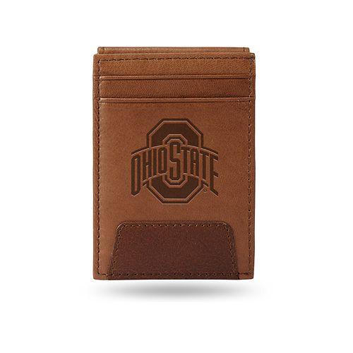 Ohio State Buckeyes Embossed Slim Leather Wallet