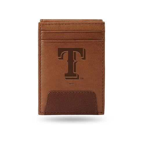 Texas Rangers Embossed Slim Leather Wallet