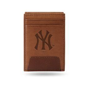 New York Yankees Embossed Slim Leather Wallet