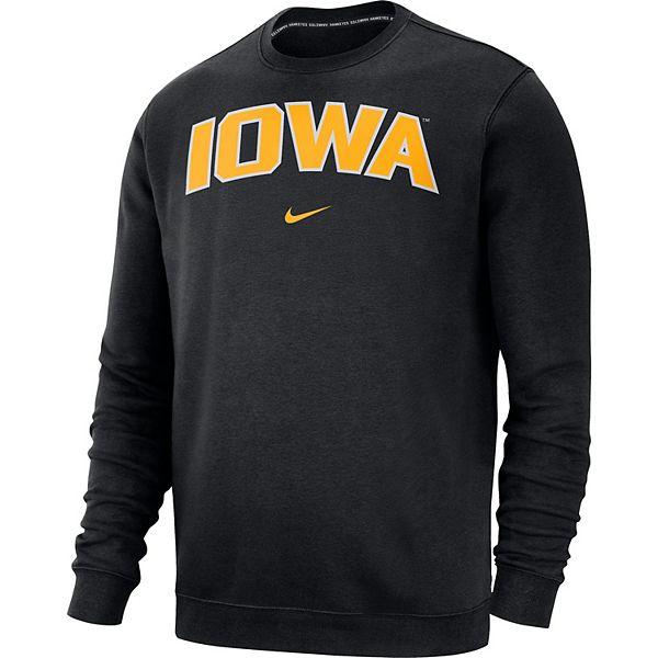 Men's Nike Iowa Hawkeyes Club Crew Sweatshirt
