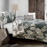 Lush Decor Camouflage Leaves Quilt Set