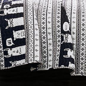 Lush Decor Llama Stripe Quilt Set