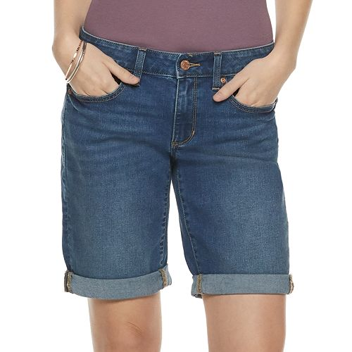 Women's SONOMA Goods for Life™ Cuffed Bermuda Jean Shorts