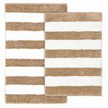Garland Deco Beach Stripe 2-piece Bath Rug Set