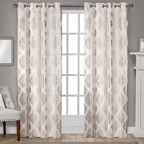 Exclusive Home Augustus Metallic Window Curtains