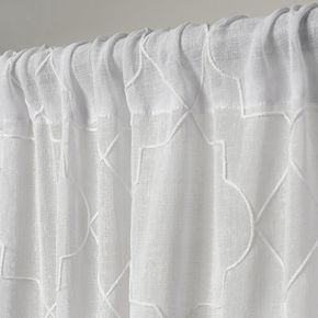 Exclusive Home Cali Embroidered Sheer Window Curtains