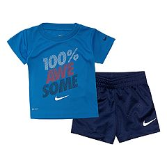 78172c1ce52d Baby Boy Nike 2 Piece  100% Awesome  Tee   Shorts Set