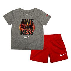 Baby Boy Nike 2 Piece 'Awesomeness' Tee & Shorts Set
