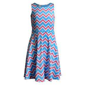 Girls 7-16 Emily West Printed Knit Reversible Dress