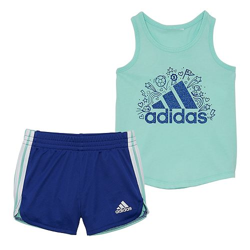 Toddler Girl adidas Tank & Shorts Set