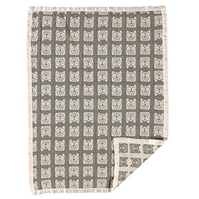 Living Textiles Cotton Muslin Jacquard Blanket
