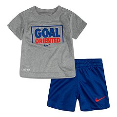 Baby Boy Nike Dri-FIT 'Goal Oriented' Tee & Mesh Shorts Set