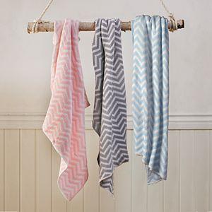 Living Textiles Chenille Chevron Baby Blanket