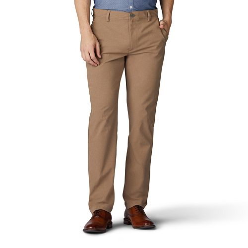 Freely Mens Khaki Thin Flat Front Expandable-Waist Chino Pant Trousers