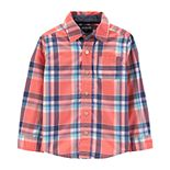 Toddler Boy OshKosh B'gosh® Plaid Poplin Shirt