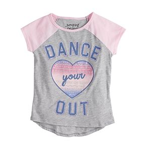 "Girls 4-12 Jumping Beans® ""Dance Your Heart Out"" Graphic Tee"