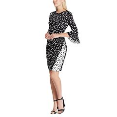 Women's Chaps Bell Sleeve Colorblock Panel Sheath Dress
