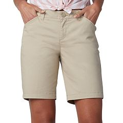 Petite Lee Regular Fit Chino Bermuda Shorts