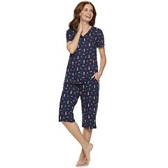 Women s Croft   Barrow® Sleep Henley   Skimmer Capri Pajama Set 14b00d6a3