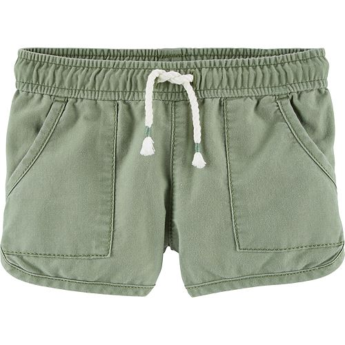 Toddler Girl OshKosh B'gosh® Twill Dolphin-Hem Shorts