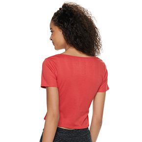 Juniors' SO® Faux Wrapped Tee