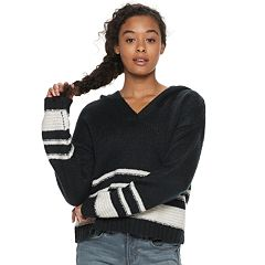 Juniors' It's Our Time Striped Pullover Hoodie