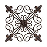 Lavish Home Medallion Square Metal Home Décor Wall Art