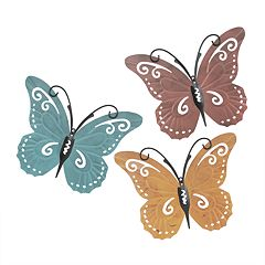 Colorful Butterfly Wall Decor 3-piece Set