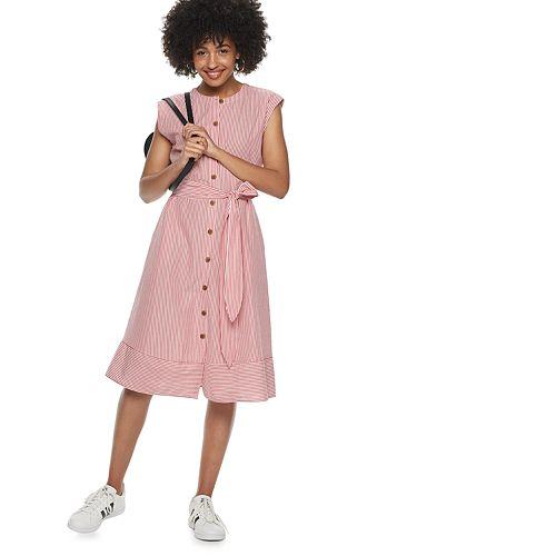 Women's POPSUGAR Belted Button-Down Dress