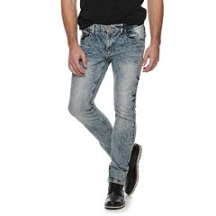 Men's Cultura Straight-Fit Light Blue Washed Jeans