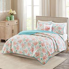 Madison Park Flora Quilt Set