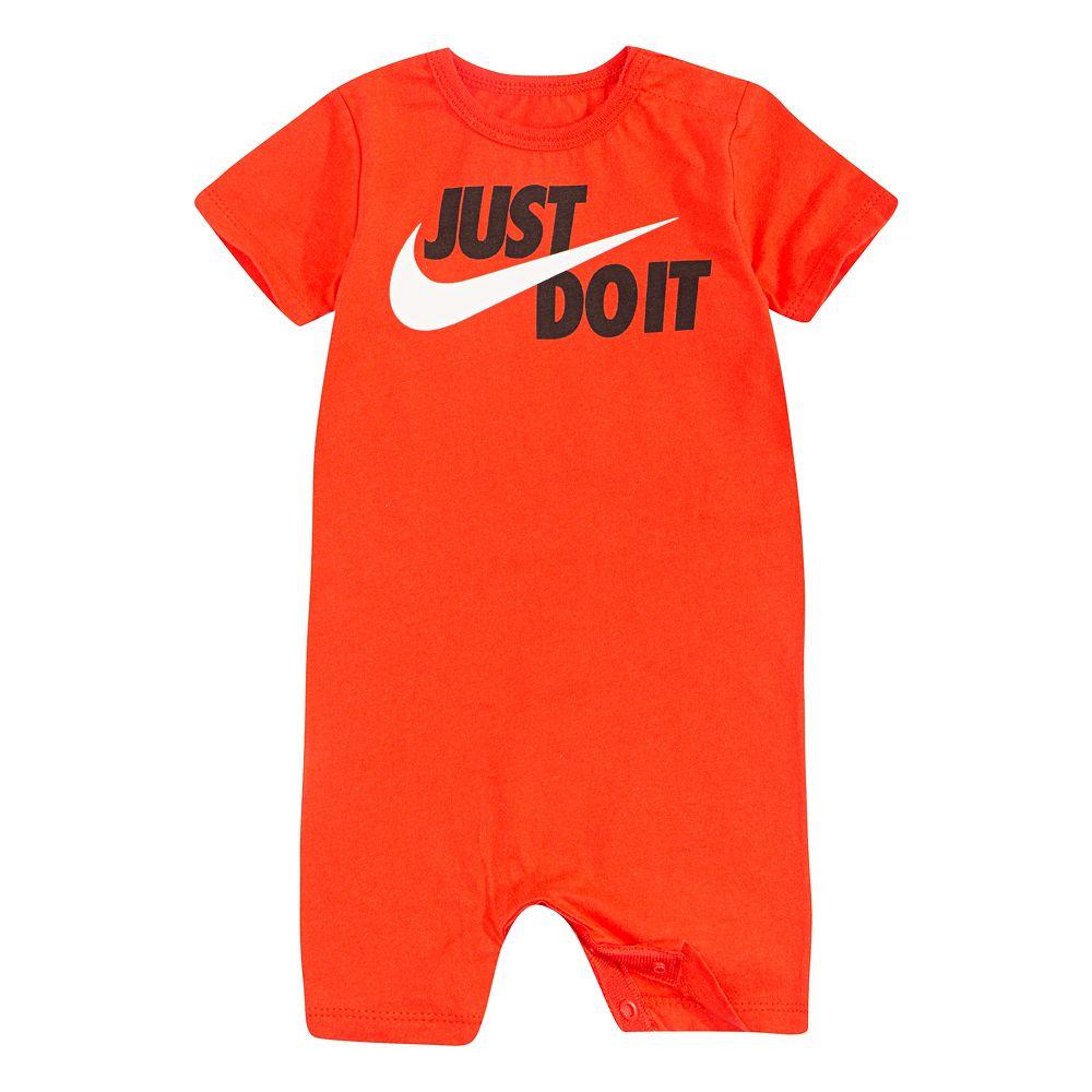 """Baby Boy Nike """"Just Do It"""" Logo Romper"""