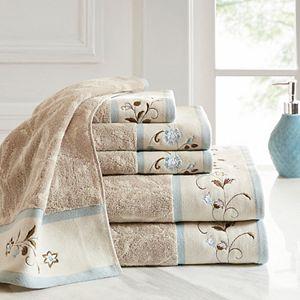 Madison Park 6-piece Belle Embroidered Bath Towel Set