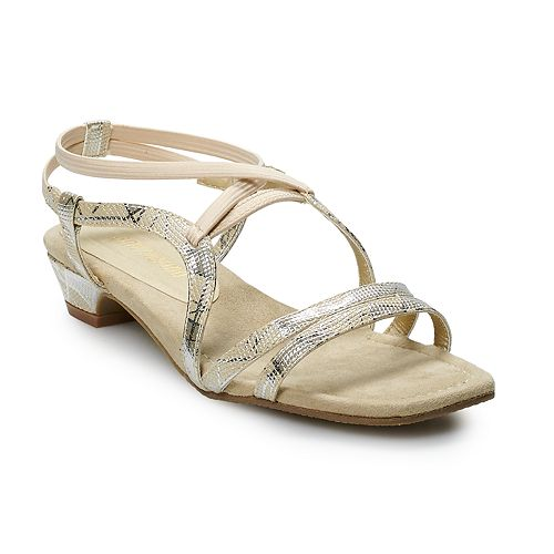 Ann Marino Women's Low Heel Strap Sandals