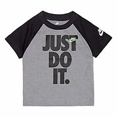 Toddler Boy Nike Raglan 'Just Do It.' Tee