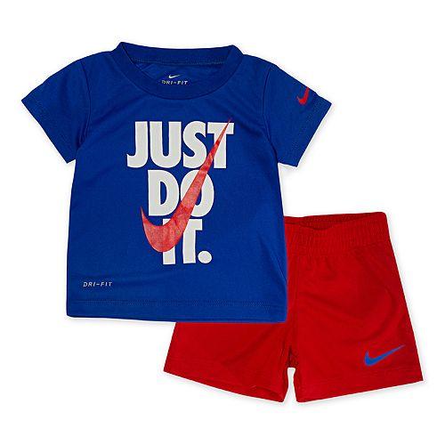 Baby Boy Nike Dri-FIT Graphic T-Shirt and Shorts Set