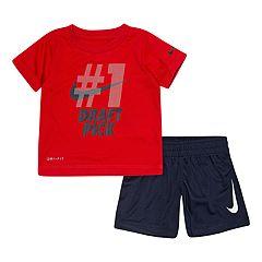 9703430bb5 Baby Boy Nike Dri-FIT Graphic T-Shirt and Shorts Set