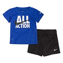ebc6dfc54968 Baby Boy Nike Dri-FIT Graphic T-Shirt and Shorts Set