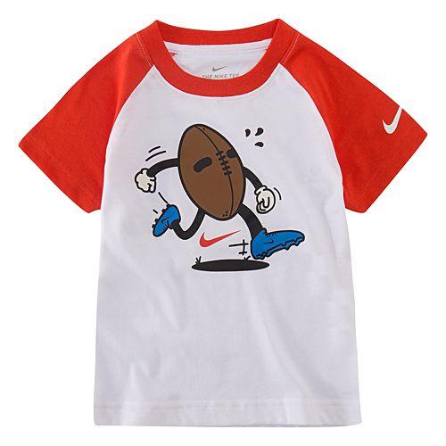 Toddler Boy Nike Raglan Football Graphic Tee