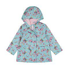 Toddler Girl Carter's Lightweight Hooded Butterfly Raincoat