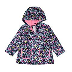 Toddler Girl Carter's Lightweight Floral Hooded Raincoat