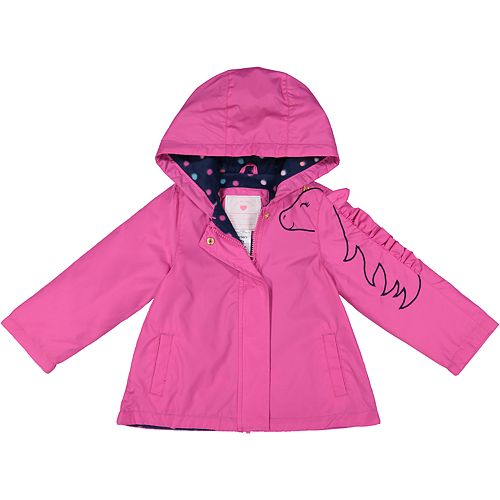 faeac2ae5 Toddler Girl Carter's Midweight Hooded Unicorn Jacket