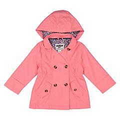Toddler Girl OshKosh B'gosh® Lightweight Hooded Trench Coat