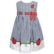 Baby Girl Blueberi Boulevard Ladybug Seersucker Dress