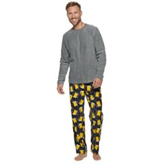 Men's Croft & Barrow® Patterned Crewneck Sleep Sleep Tee & Sleep Pants Set