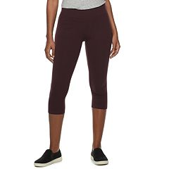 23baf20391e Women s SONOMA Goods for Life™ Wide-Waist Midrise Capri Leggings