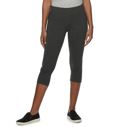 Women's SONOMA Goods for Life™ Wide-Waist Midrise Capri Leggings