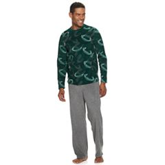 Men's Croft & Barrow® Patterned Crewneck Tee & Lounge Pants Set