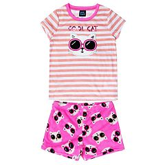 Girls 4-16 Jelli Fish Top & Shorts Pajama Set