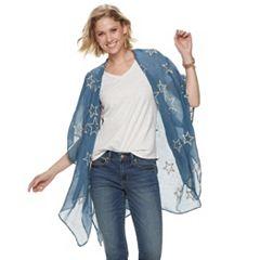 a84f32eefc7 Women s SONOMA Goods for Life™ Embroidered Star Kimono